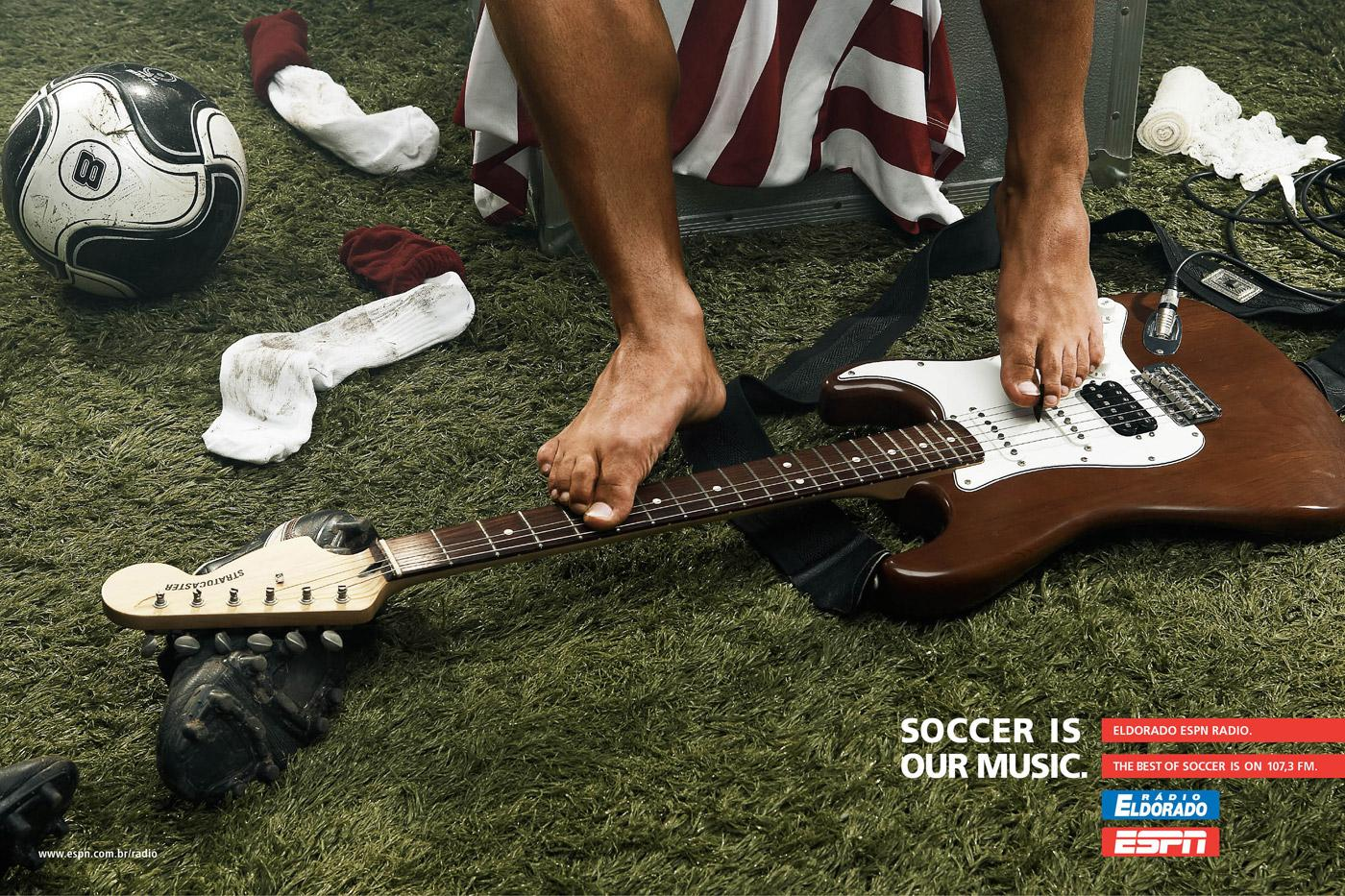 ESPN Print Ad -  Soccer is our music, 1