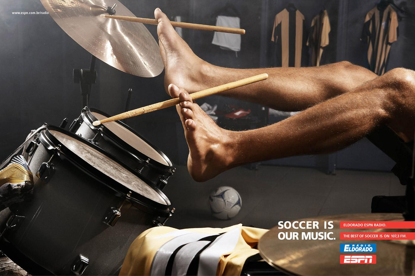 ESPN Print Ad -  Soccer is our music, 3