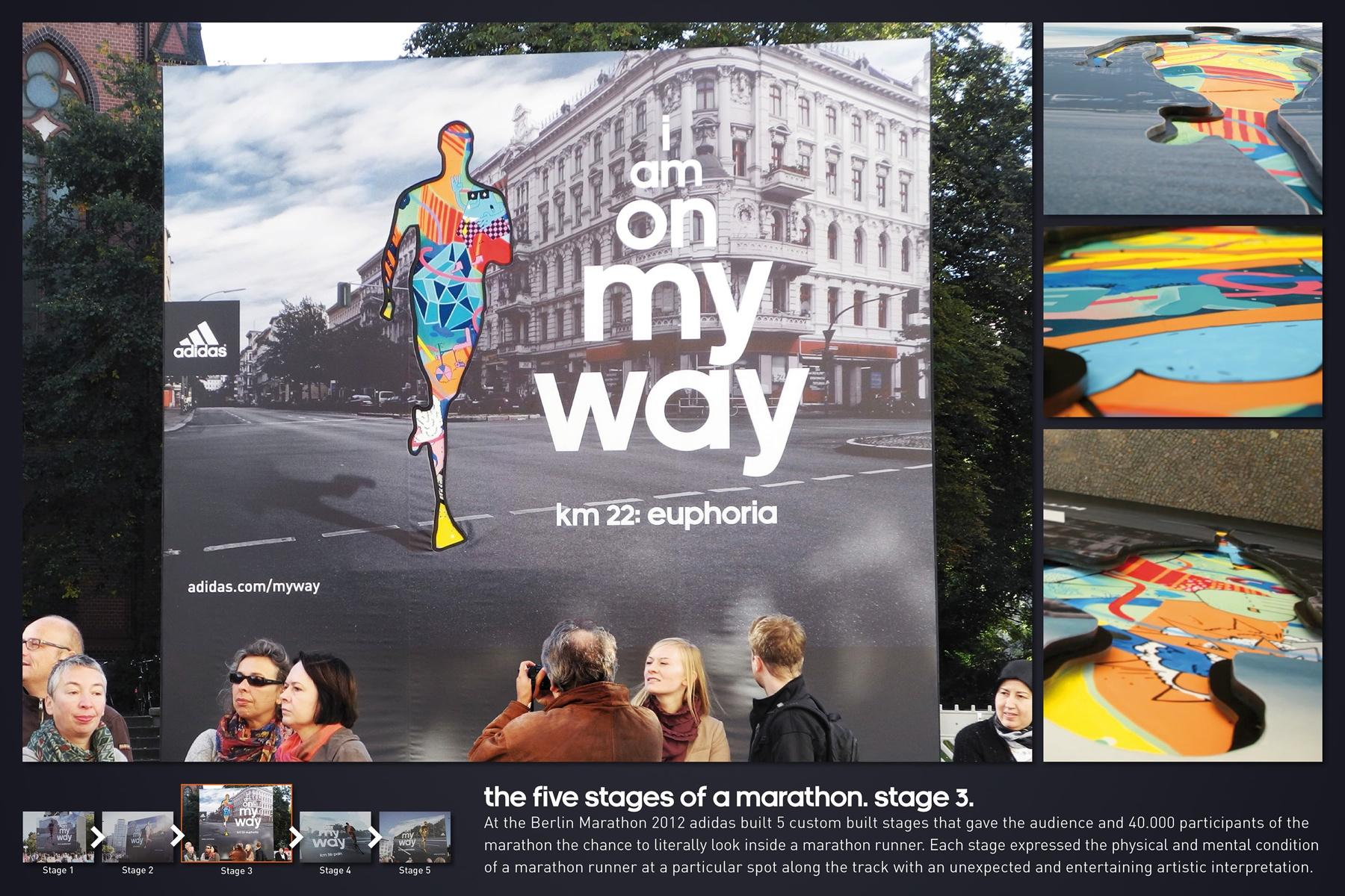 Berlin Marathon Outdoor Ad -  The Five Stages of a Marathon, Euphoria