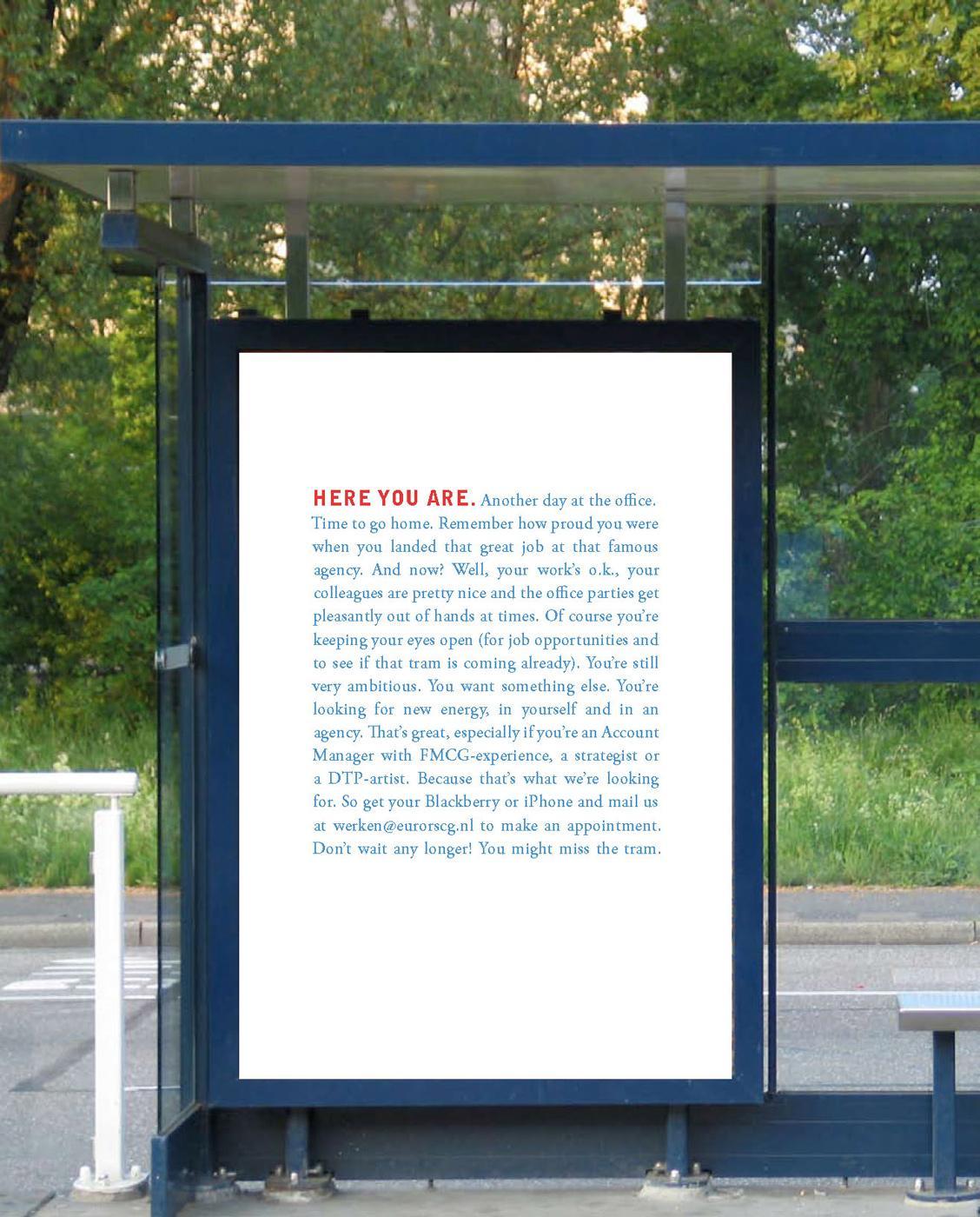 Euro RSCG Outdoor Ad -  Tram stop