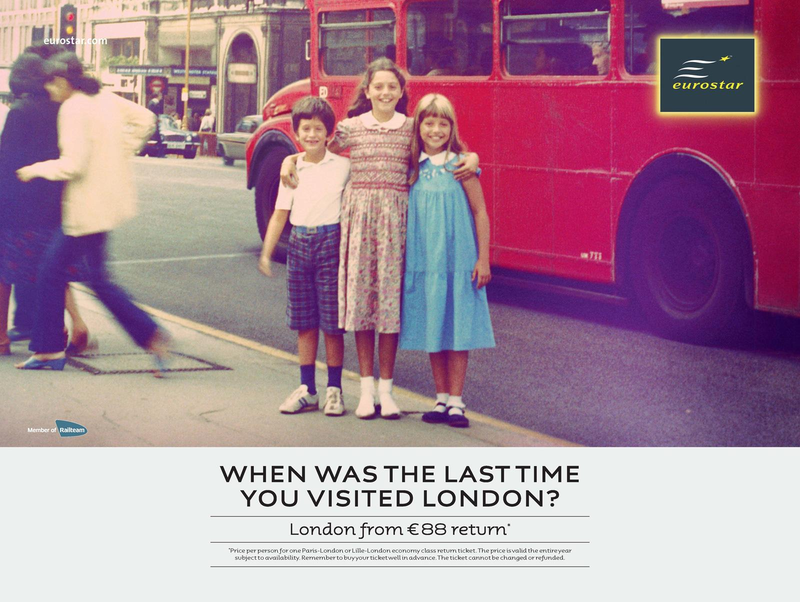 Eurostar Print Ad -  When Was the Last Time...?, 2