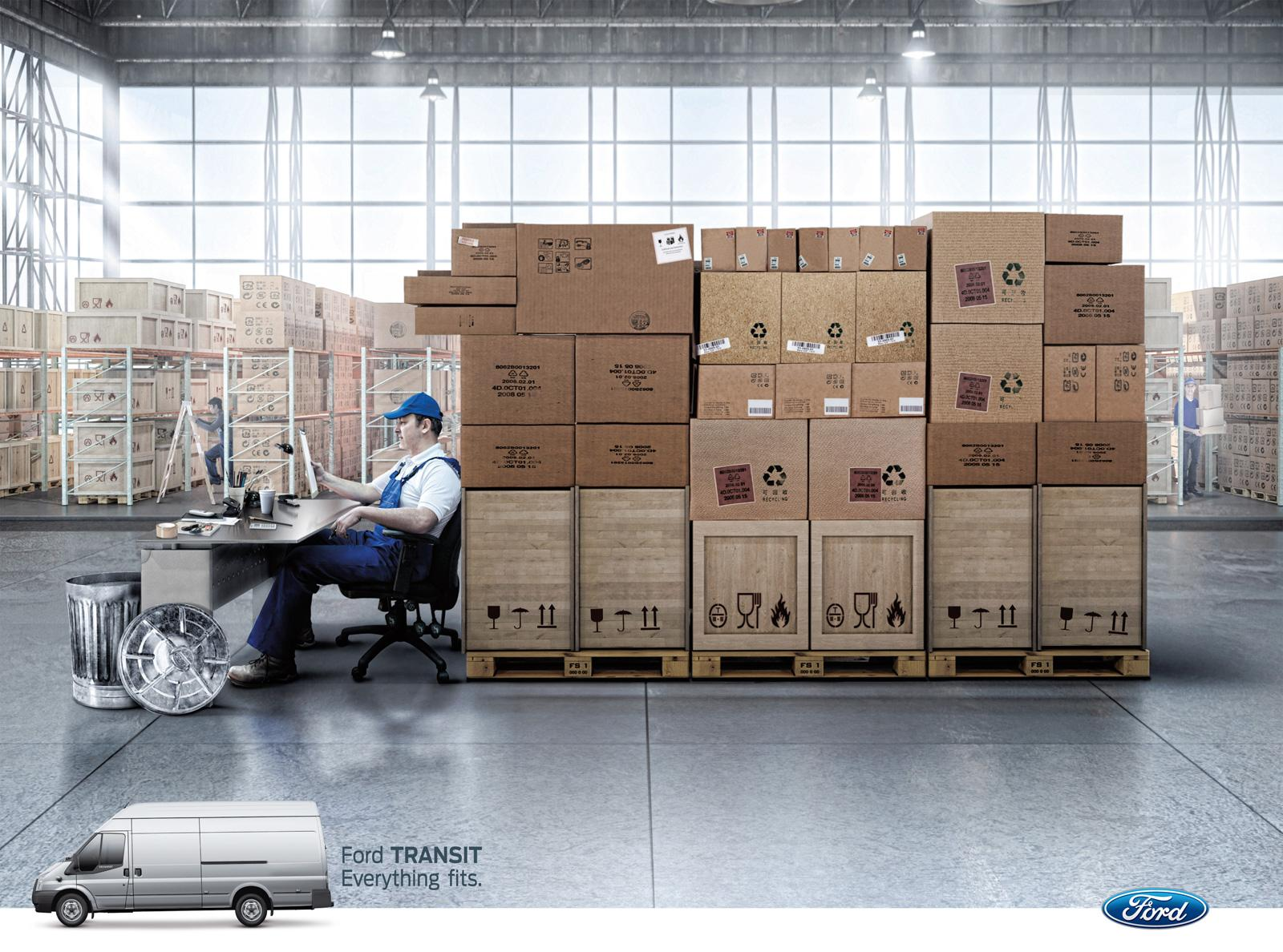 Ford Print Ad -  Everything Fits