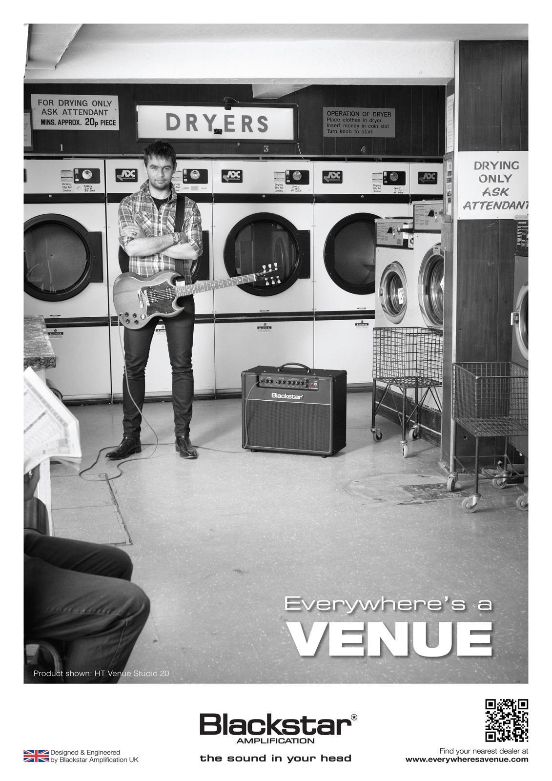 Blackstar Print Ad -  Everywhere's a Venue, Laundrette