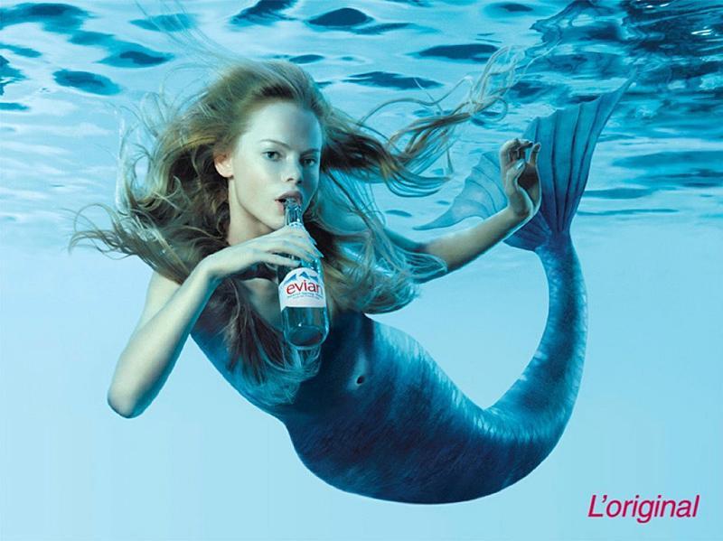 Evian Print Ad -  Mermaid
