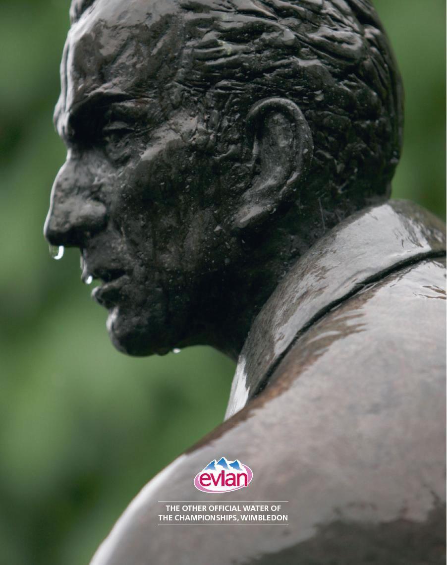 Evian Print Ad -  Statue