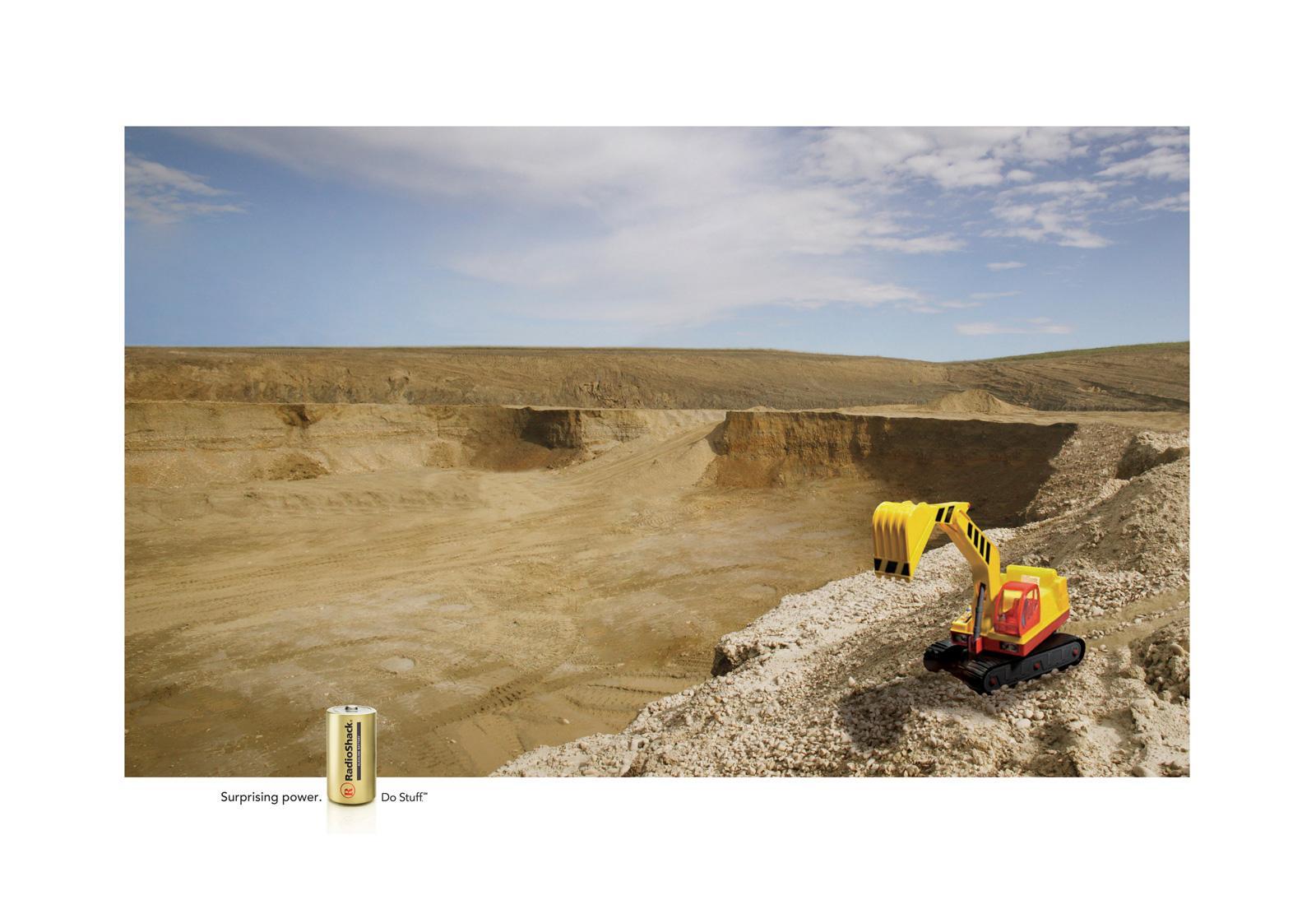RadioShack Print Ad -  Excavator