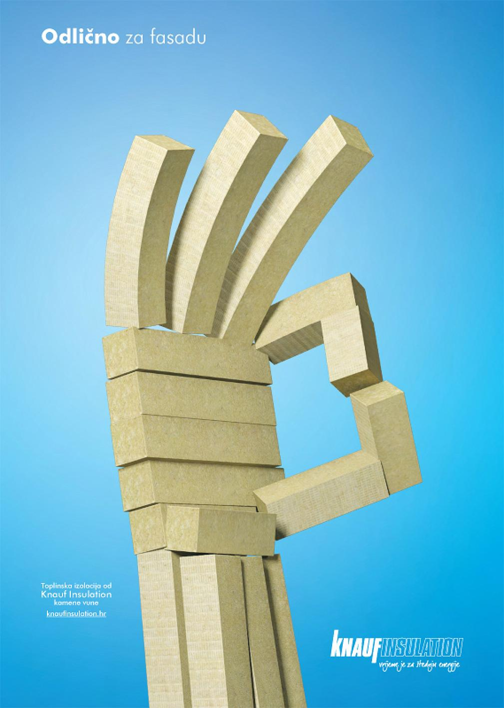 Knauf Insulation Print Ad -  Excellent for facade
