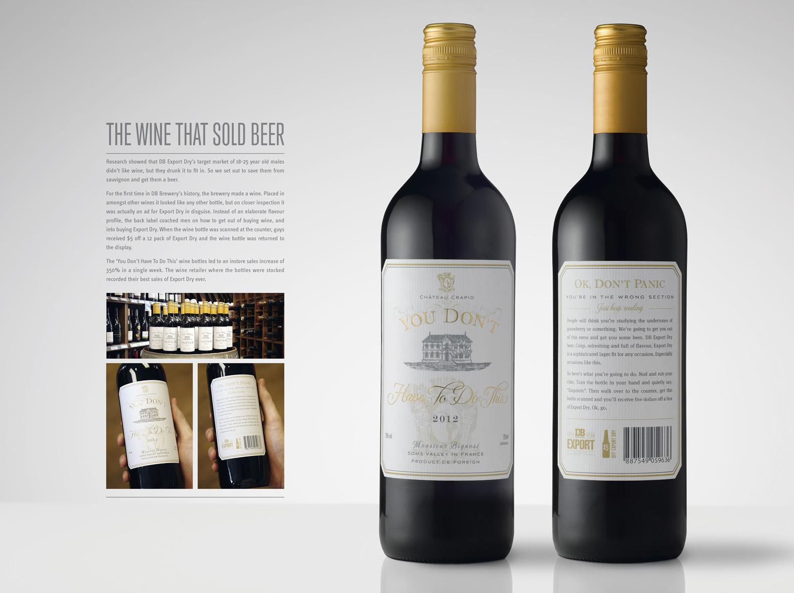 DB Export Dry Direct Ad -  The Wine that Sold Beer