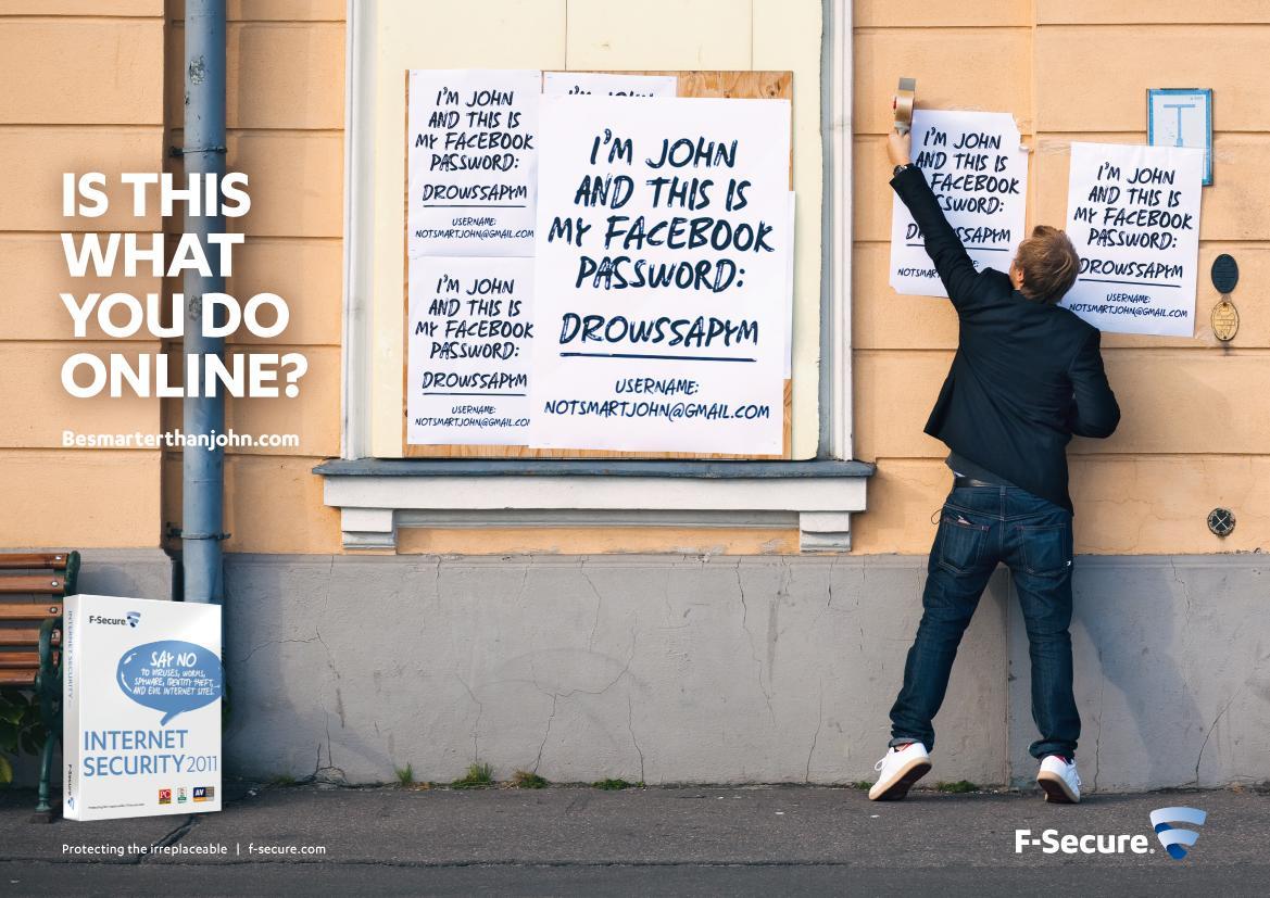 F-Secure Print Ad -  Wild postings