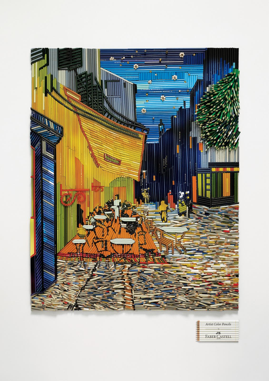 Faber-Castell Print Ad -  Café Terrace at Night