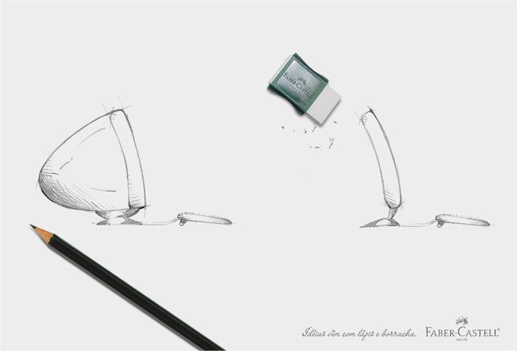 Faber-Castell Print Ad -  Flat screen