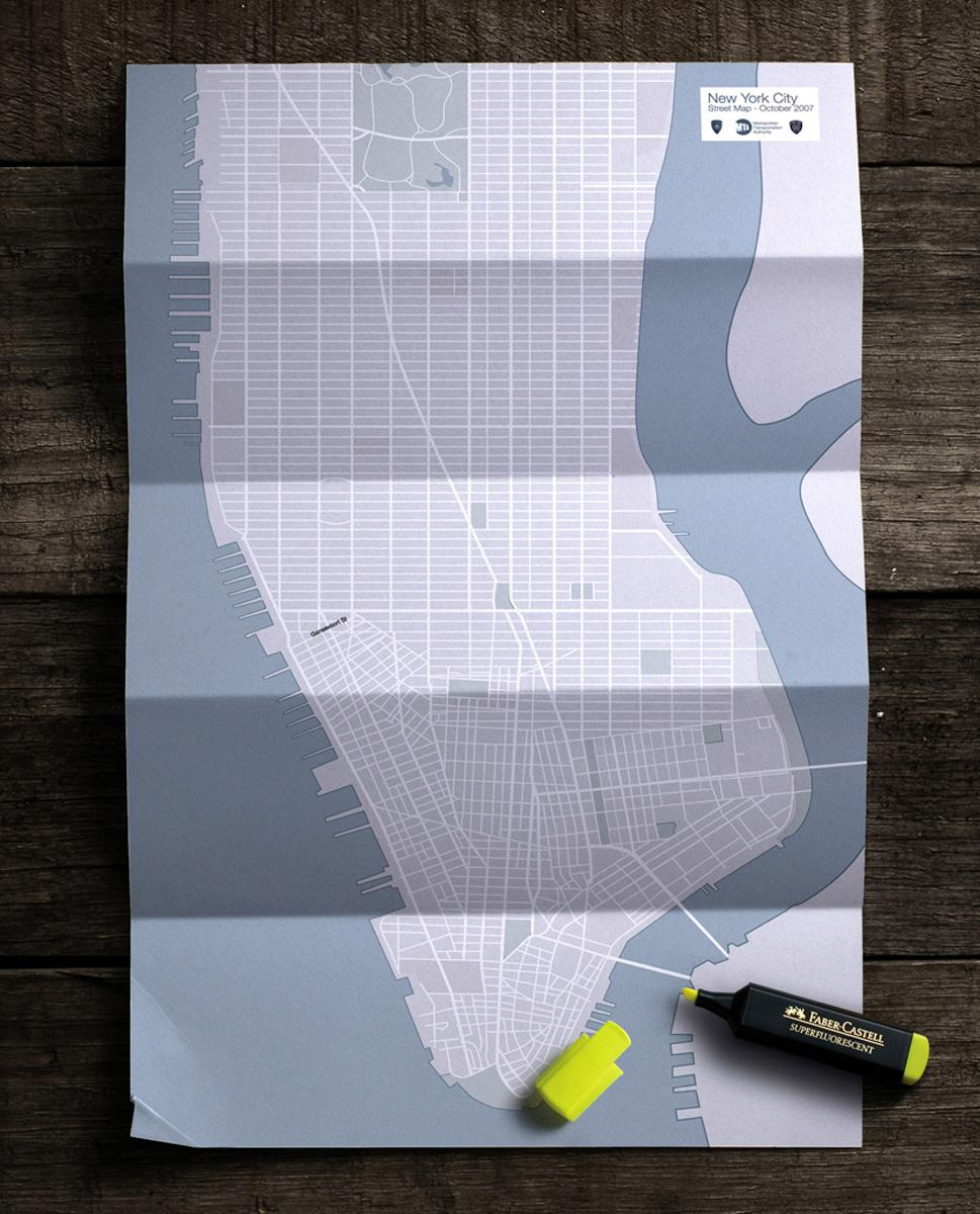 Faber-Castell Print Ad -  Map