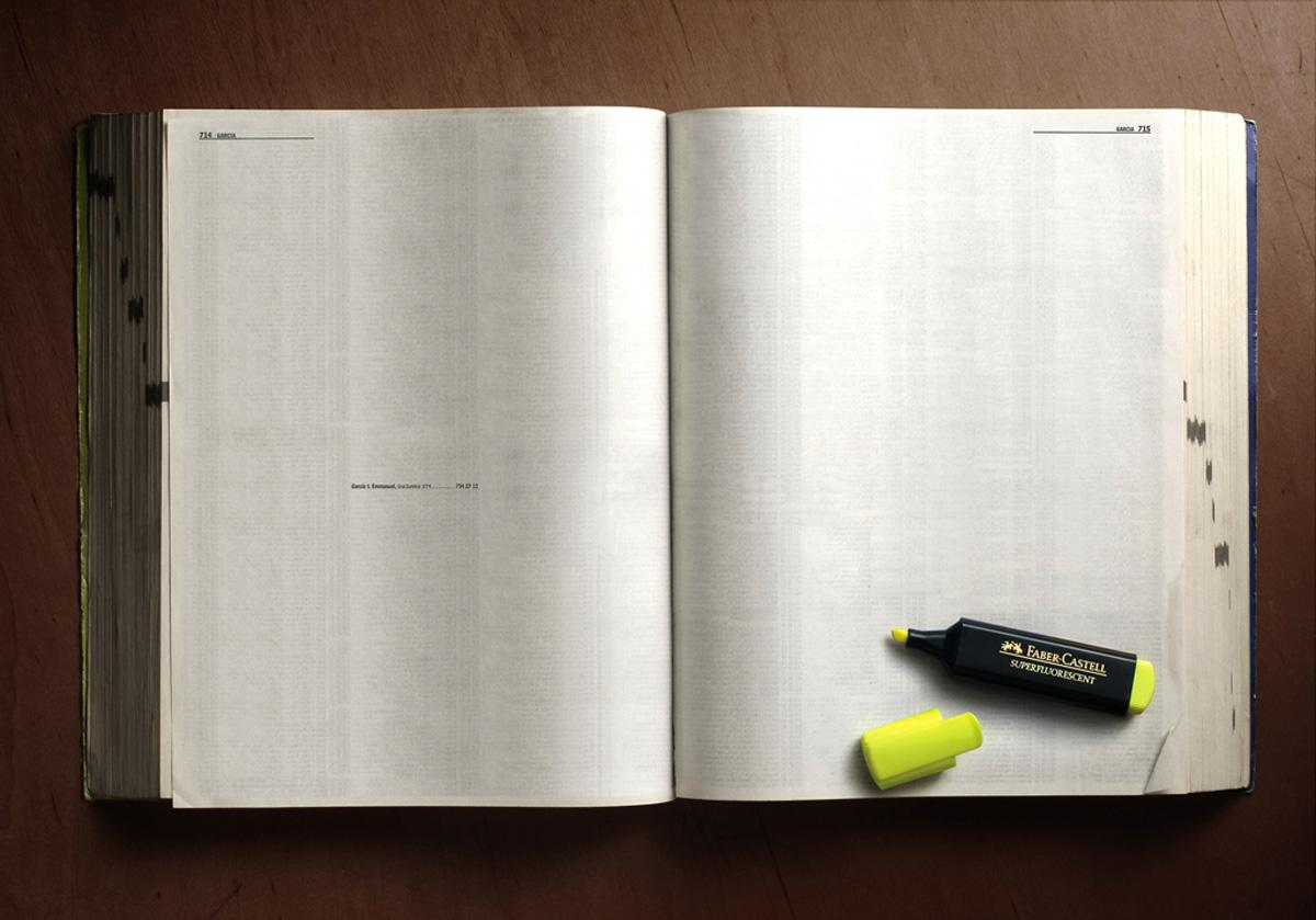 Faber-Castell Print Ad -  Telephone directory