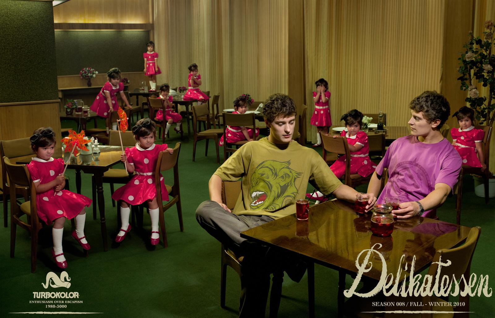 Turbokolor Print Ad -  Delikatessen, Twins and girls