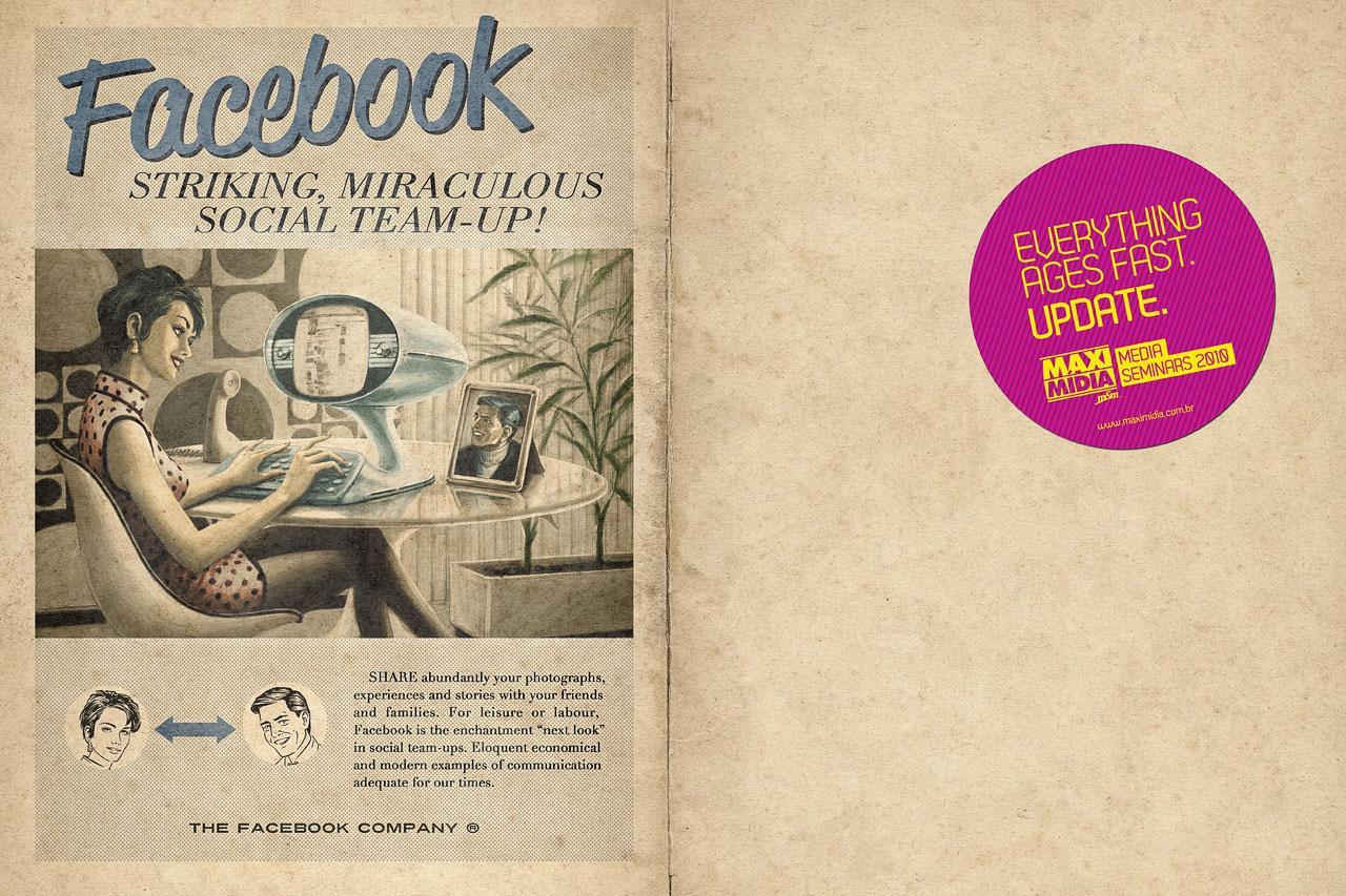 Maximidia Print Ad -  Vintage Facebook