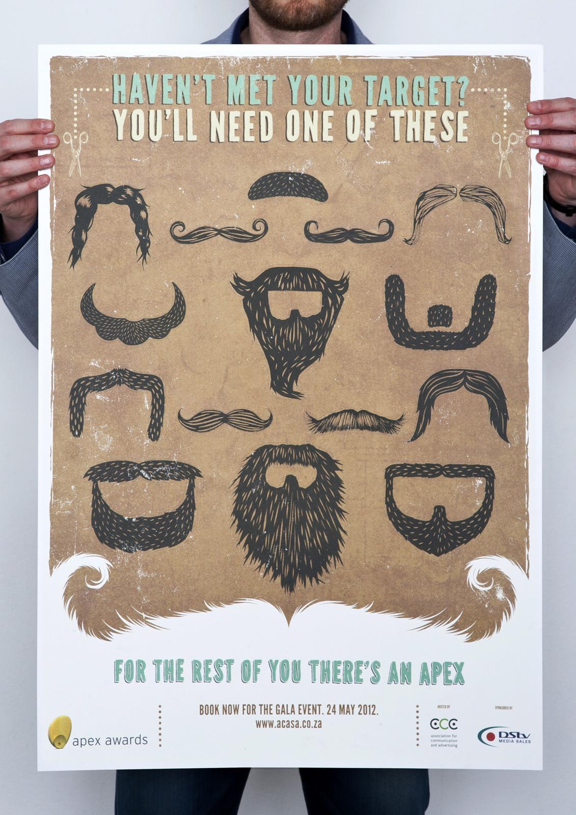 Apex Awards Outdoor Ad -  Facial Hair