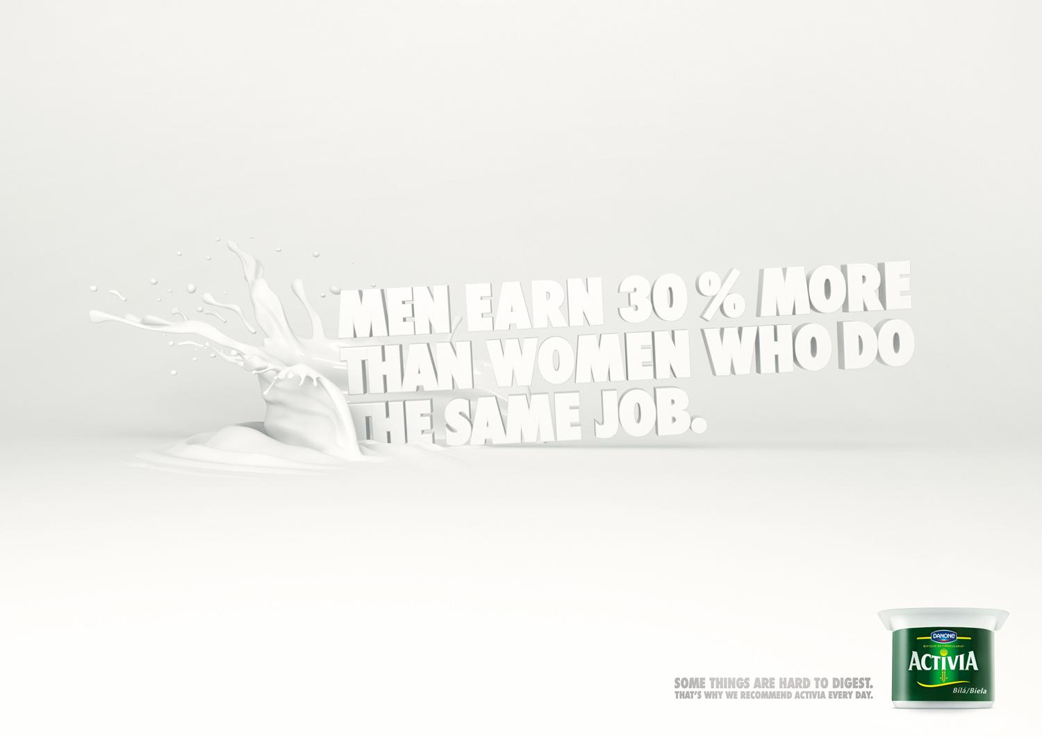 Danone Print Ad -  Men earning