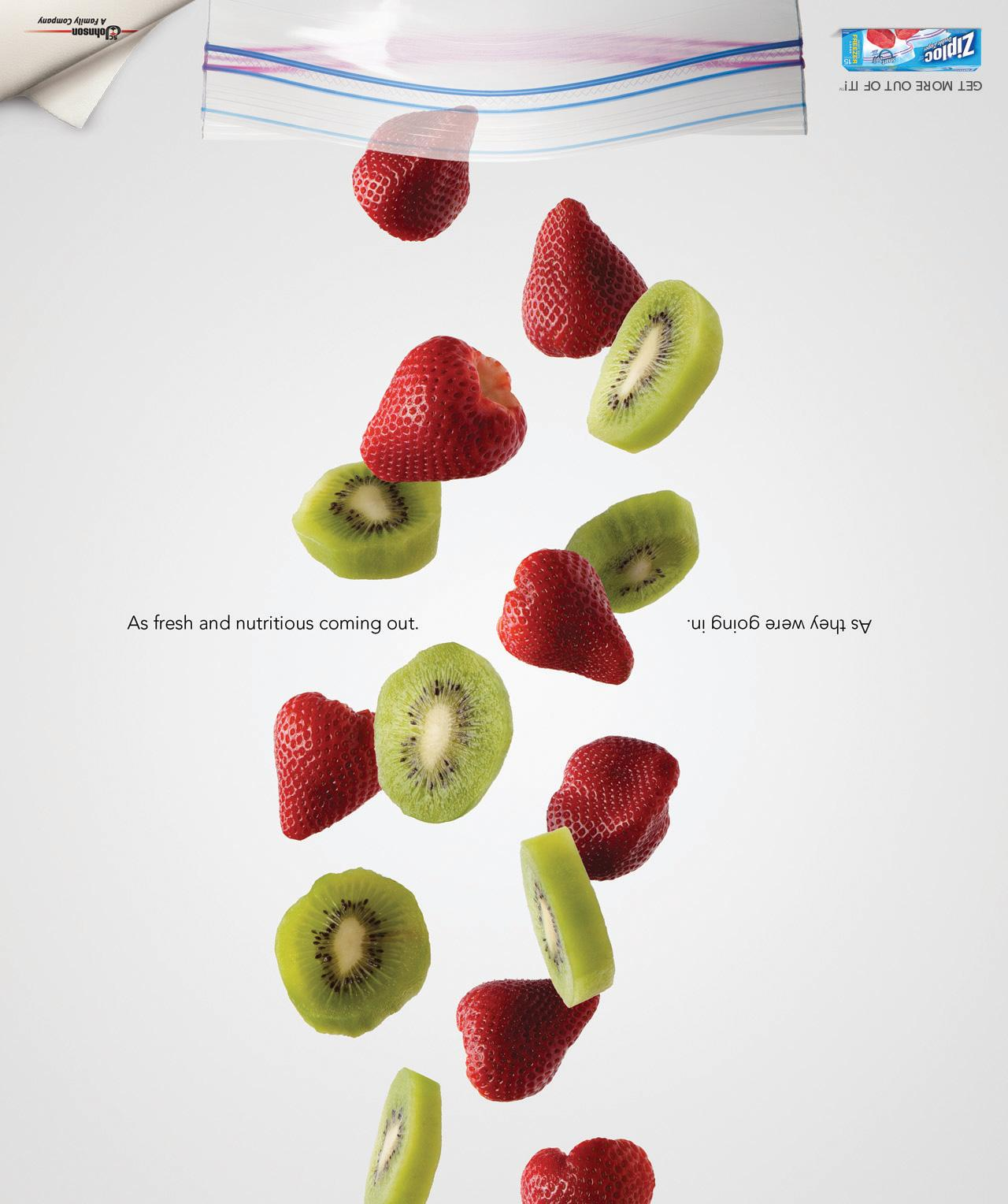 Ziploc Print Ad -  Falling Fruit
