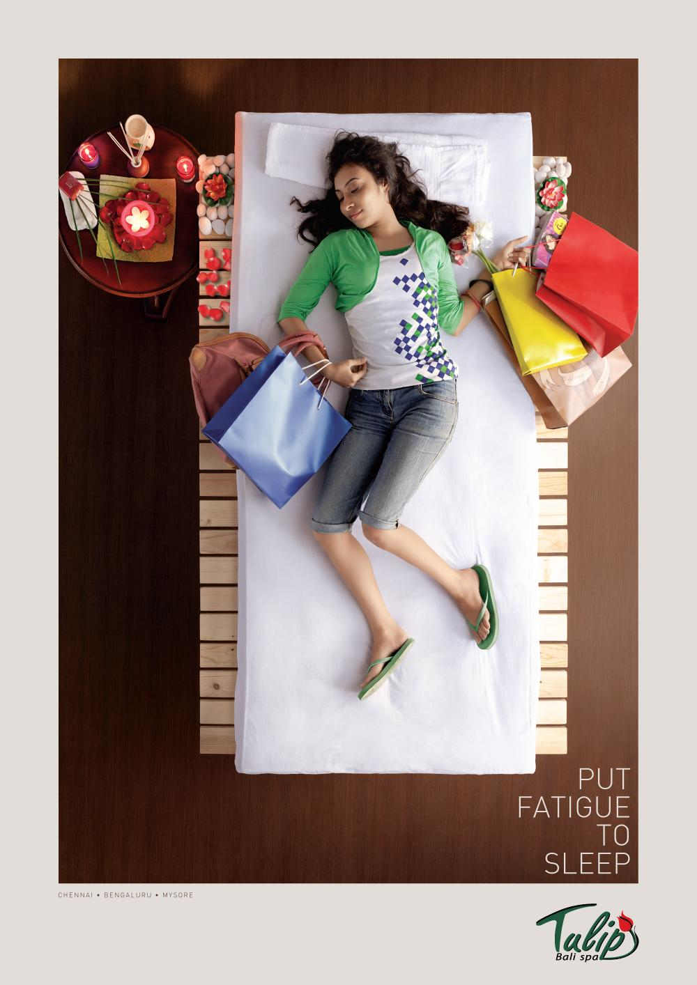 Tulip Bali Spa Print Ad -  Put fatigue to sleep