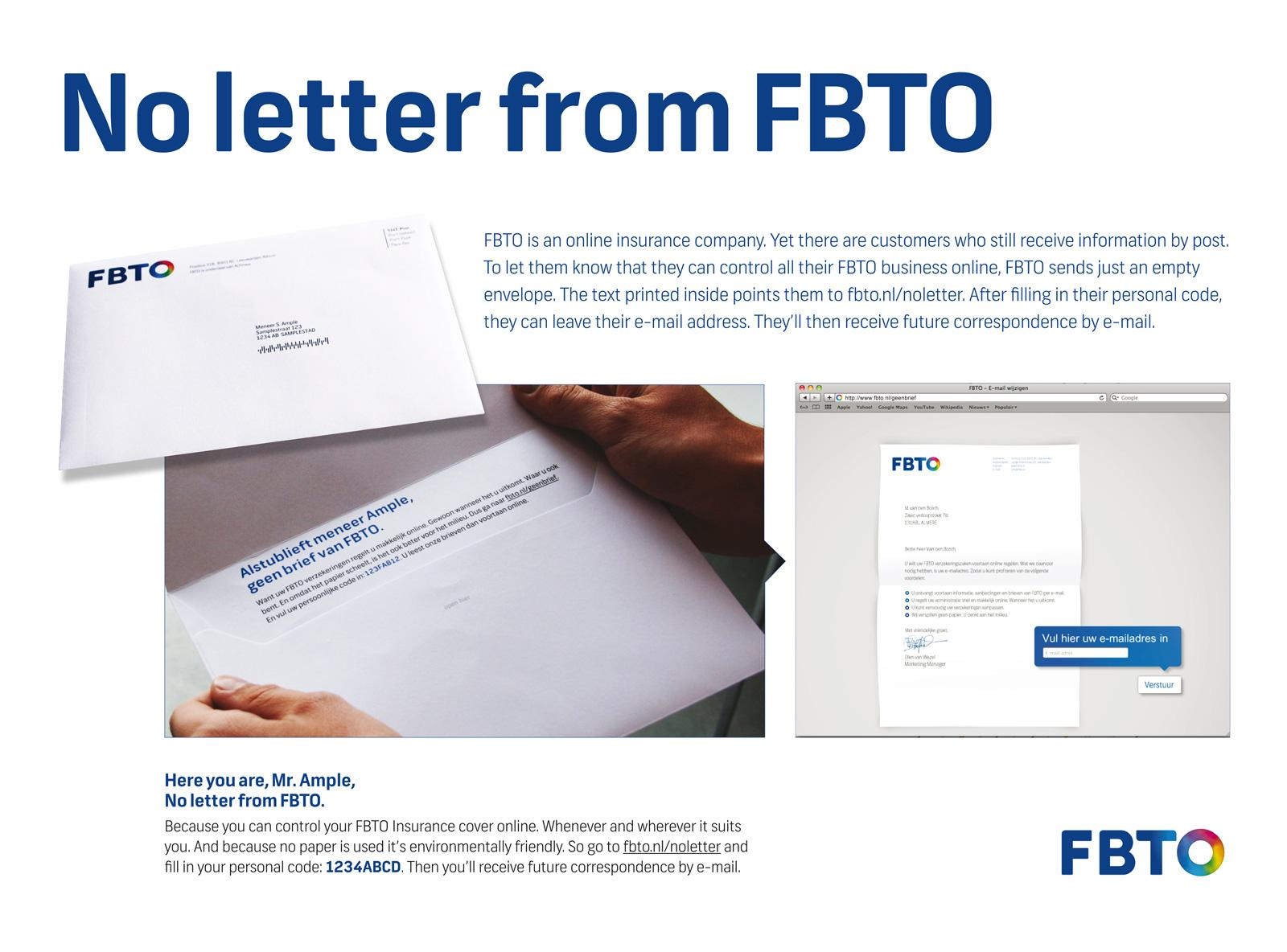 FBTO Direct Ad -  No letter