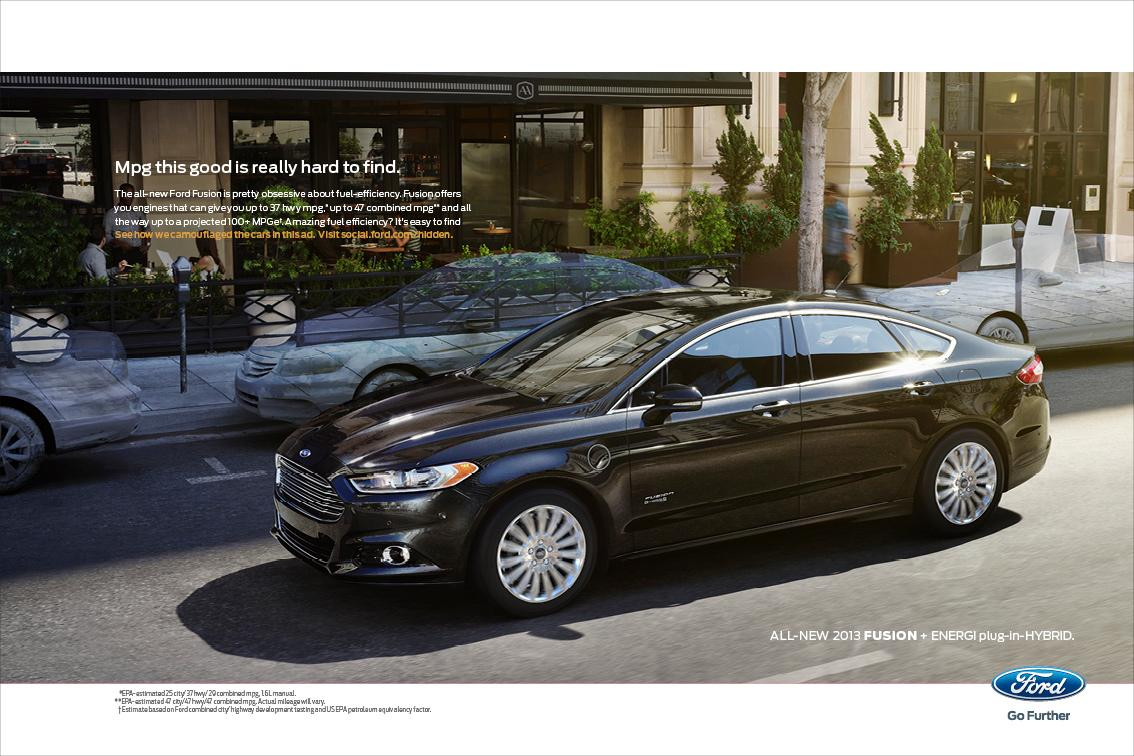 Ford Print Ad -  Invisible, 1