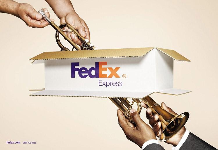 FedEx Print Ad -  Trombone