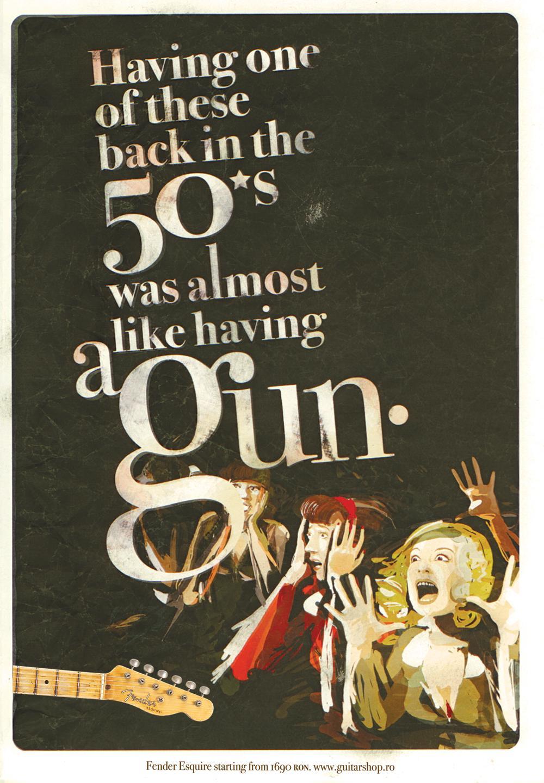Fender Print Ad -  Gun