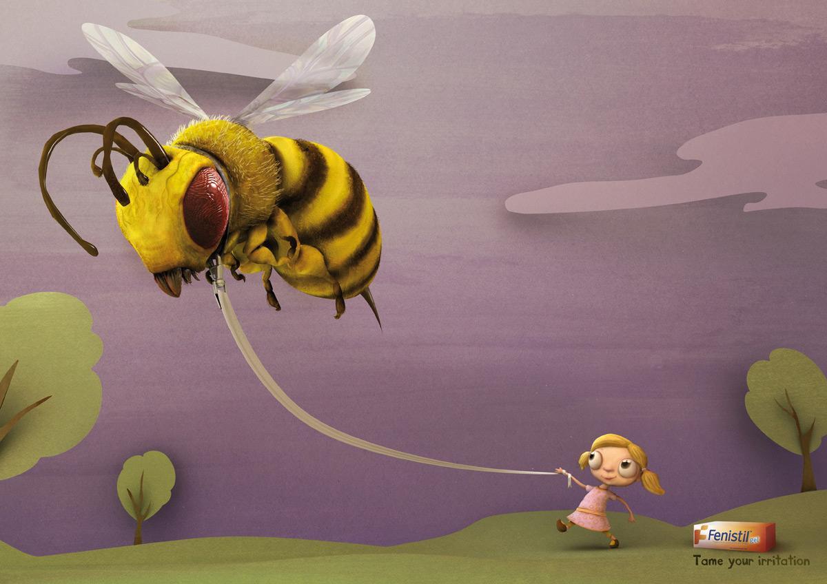 Fenistil Print Ad -  Bee