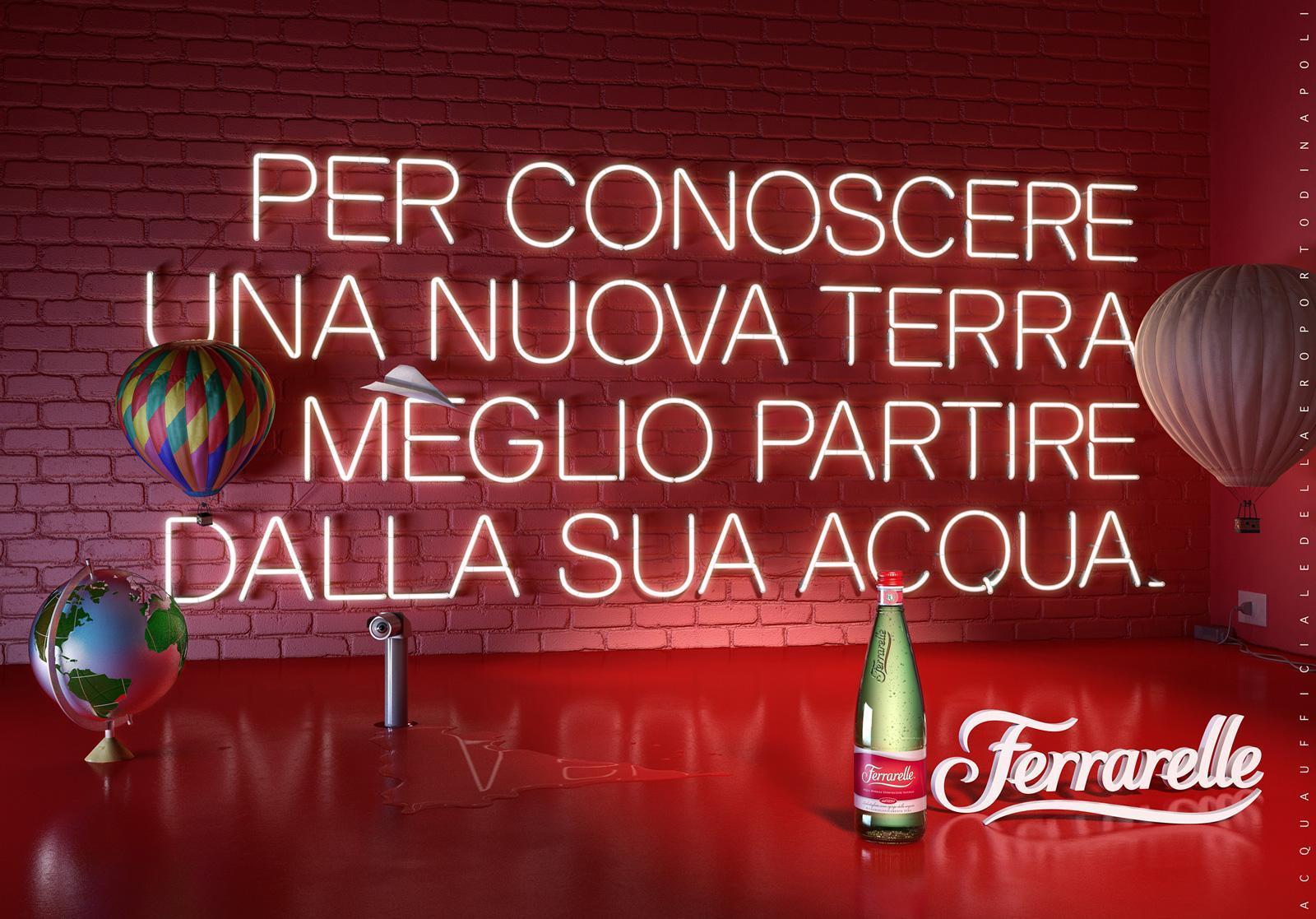 Ferrarelle Print Ad -  Naples Airport, 2