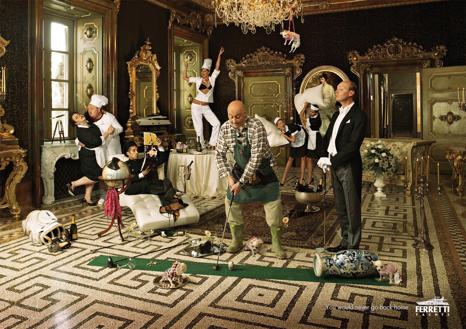 Ferretti Print Ad -  When the Master's away