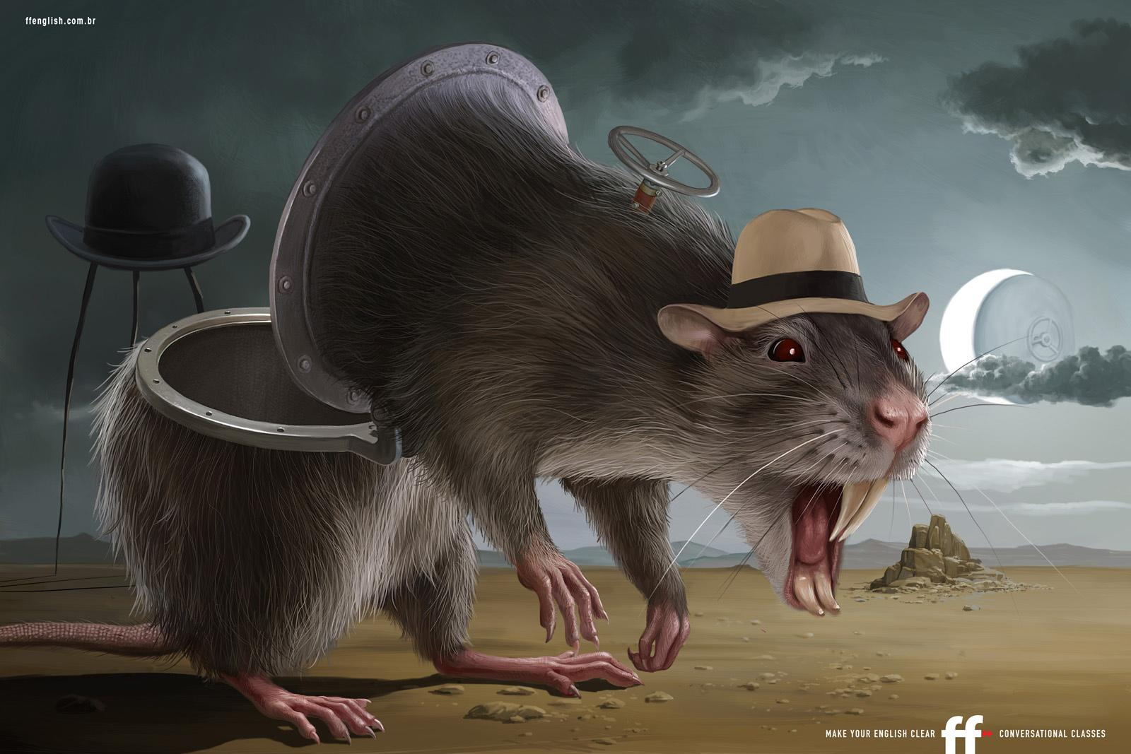 FF English School Print Ad -  Rat, hat, hatch