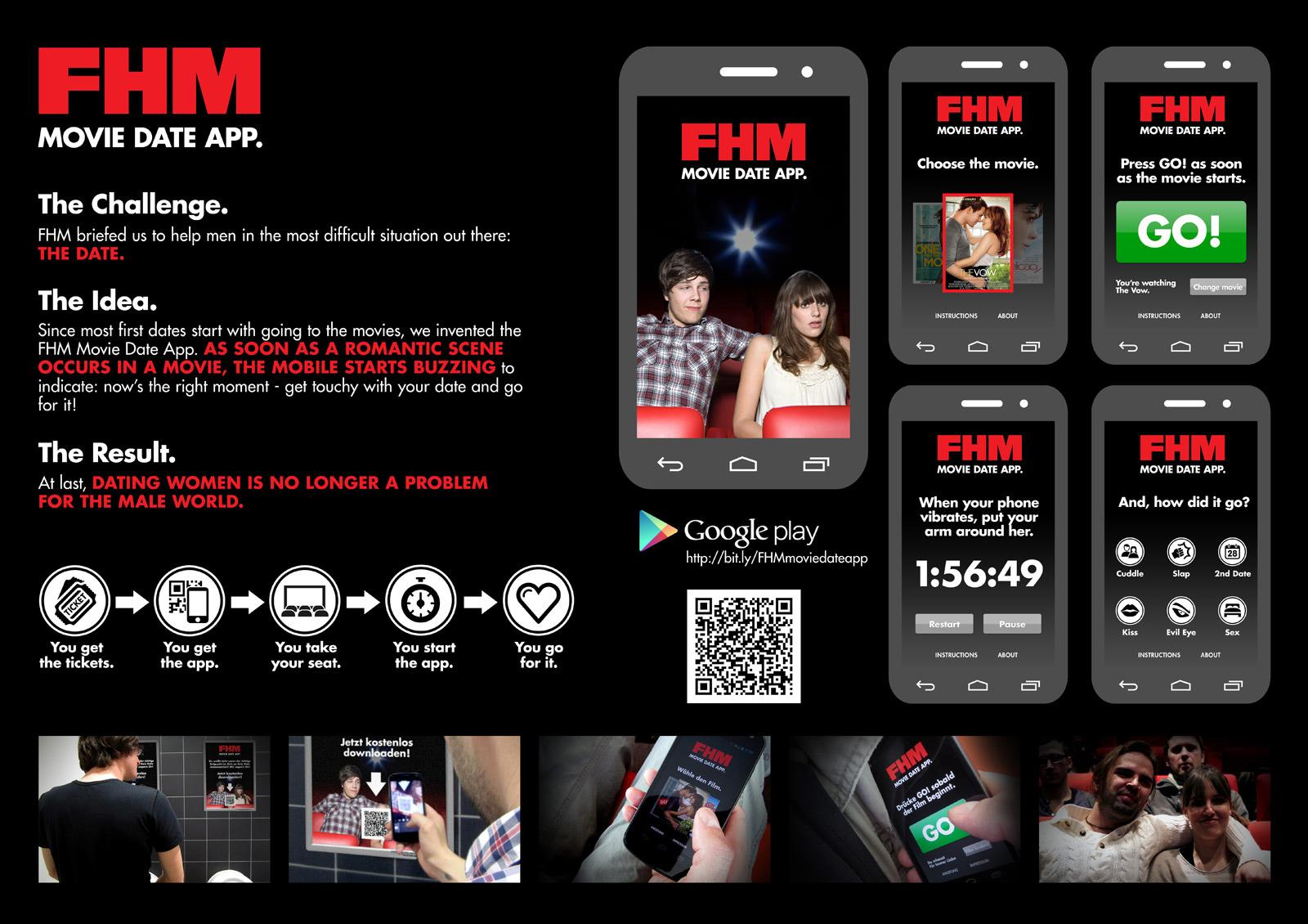 FHM Digital Ad -  Movie Date App