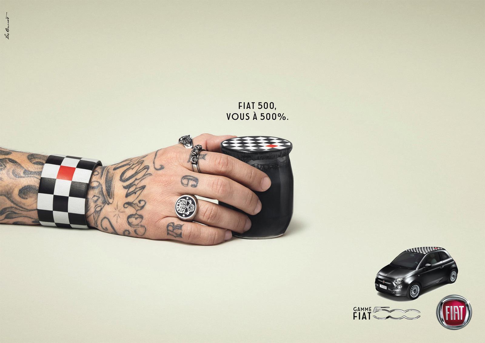 Fiat Print Ad -  Hands, Rock
