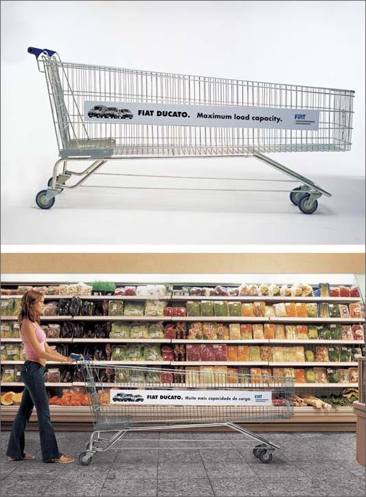 Fiat Ambient Ad -  Shopping cart