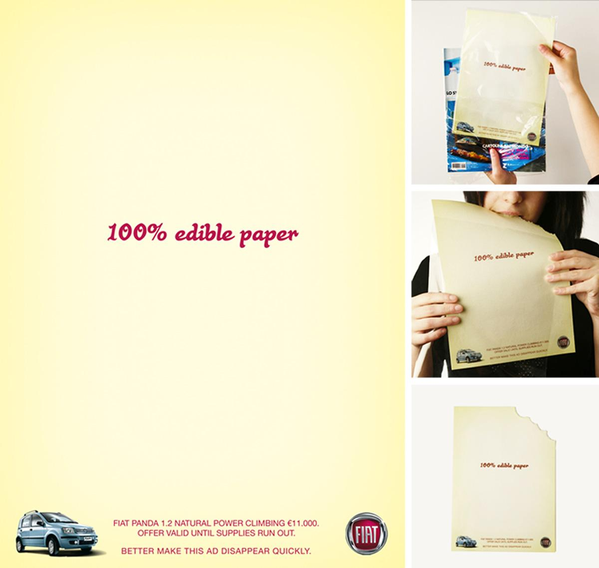 Fiat Ambient Ad -  Edible
