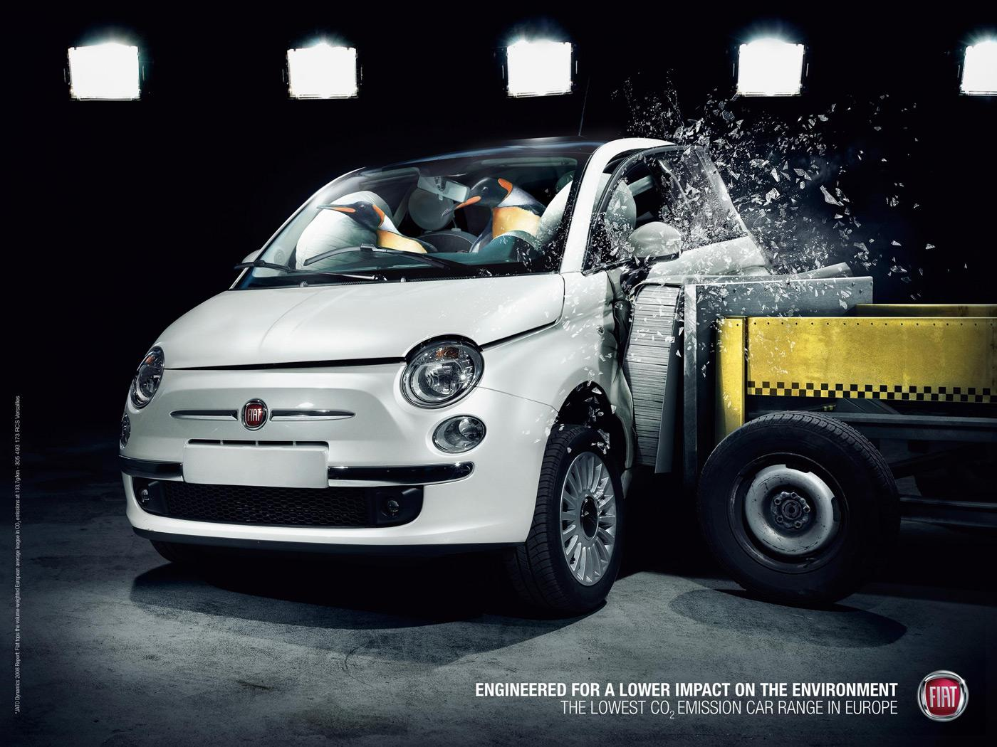 Fiat Outdoor Ad -  Penguins