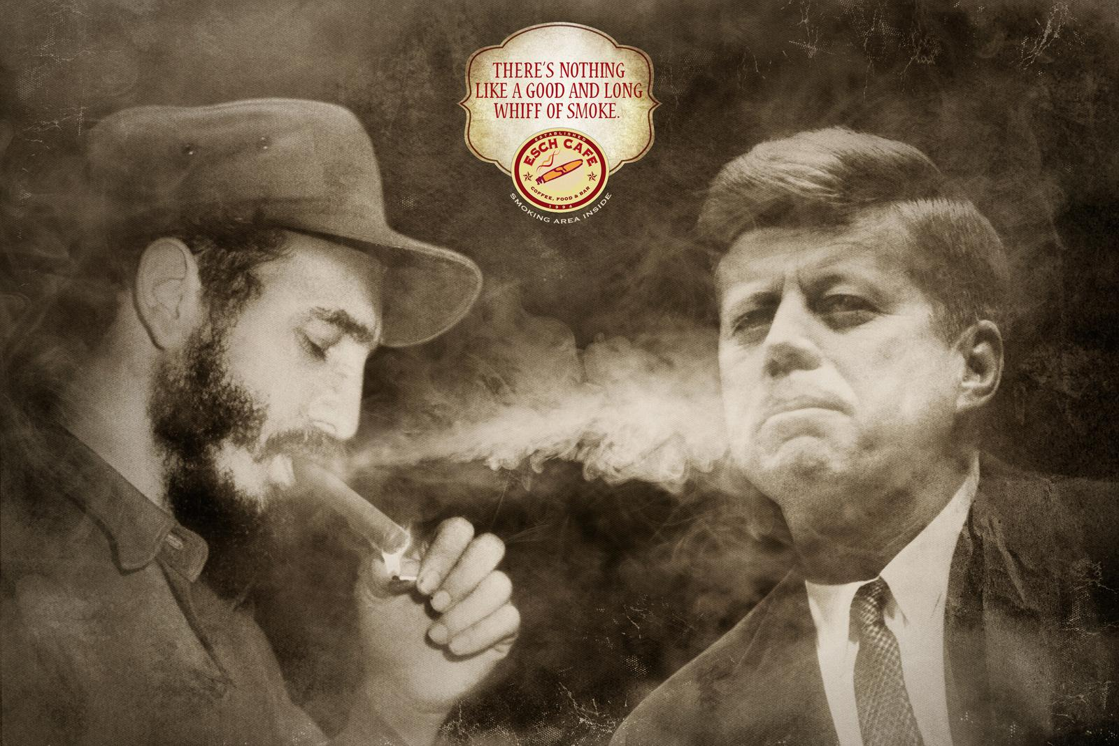 Esch cafe Print Ad -  Fidel vs Kennedy