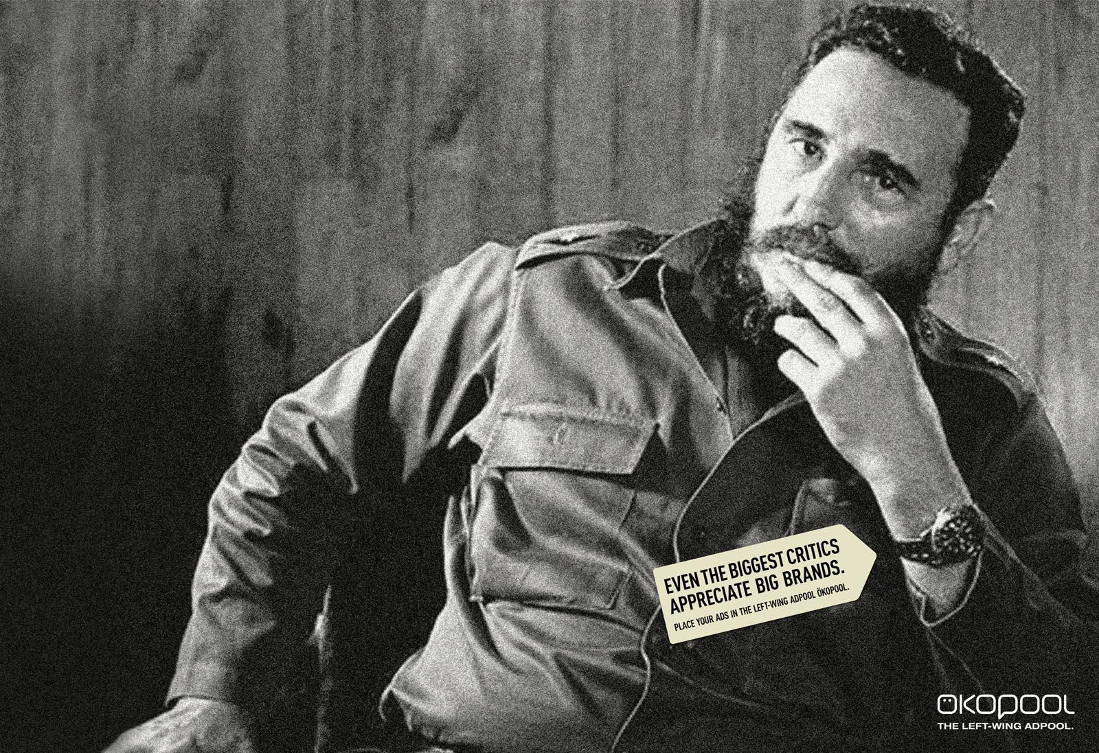 Oekopool Print Ad -  Fidel Castro