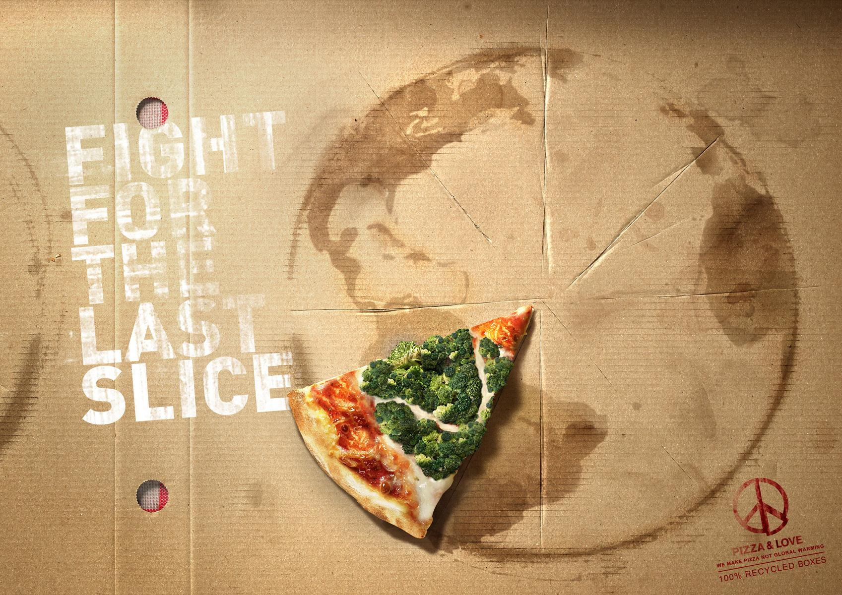Pizza&Love Print Ad -  Fight for the Amazonas