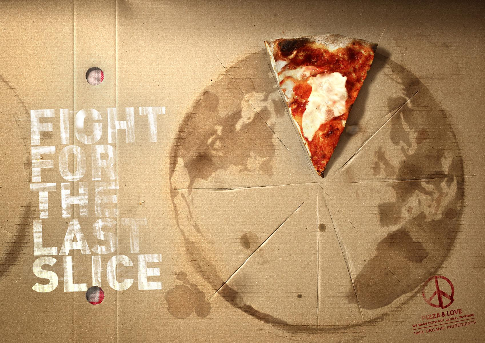 Pizza&Love Print Ad -  Fight for the Arctic