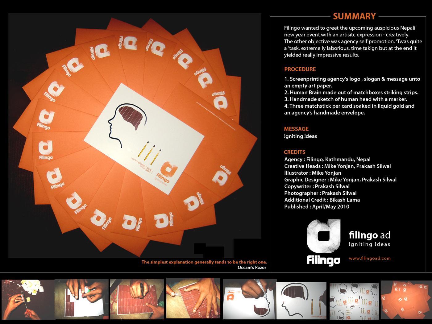 Filingo Ambient Ad -  Igniting ideas