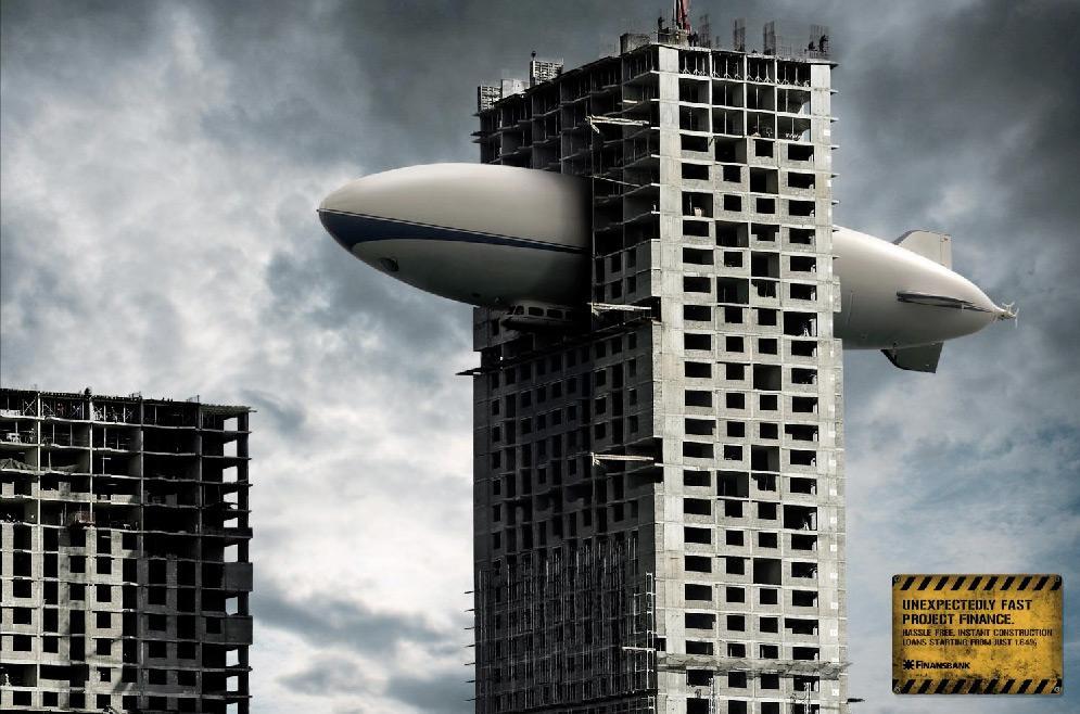 Finansbank Print Ad -  Zeppelin