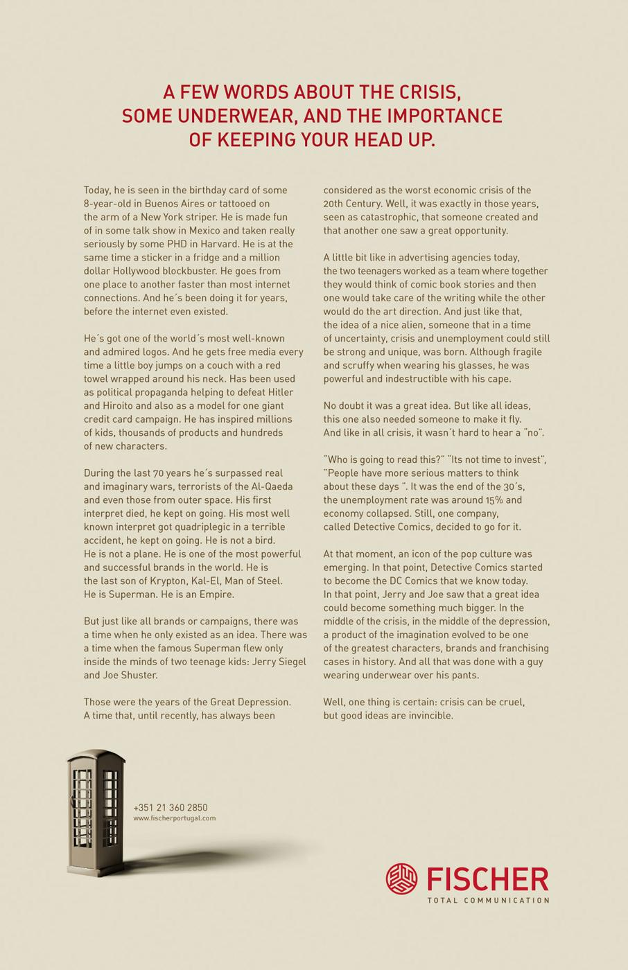 Fischer Print Ad -  Crisis