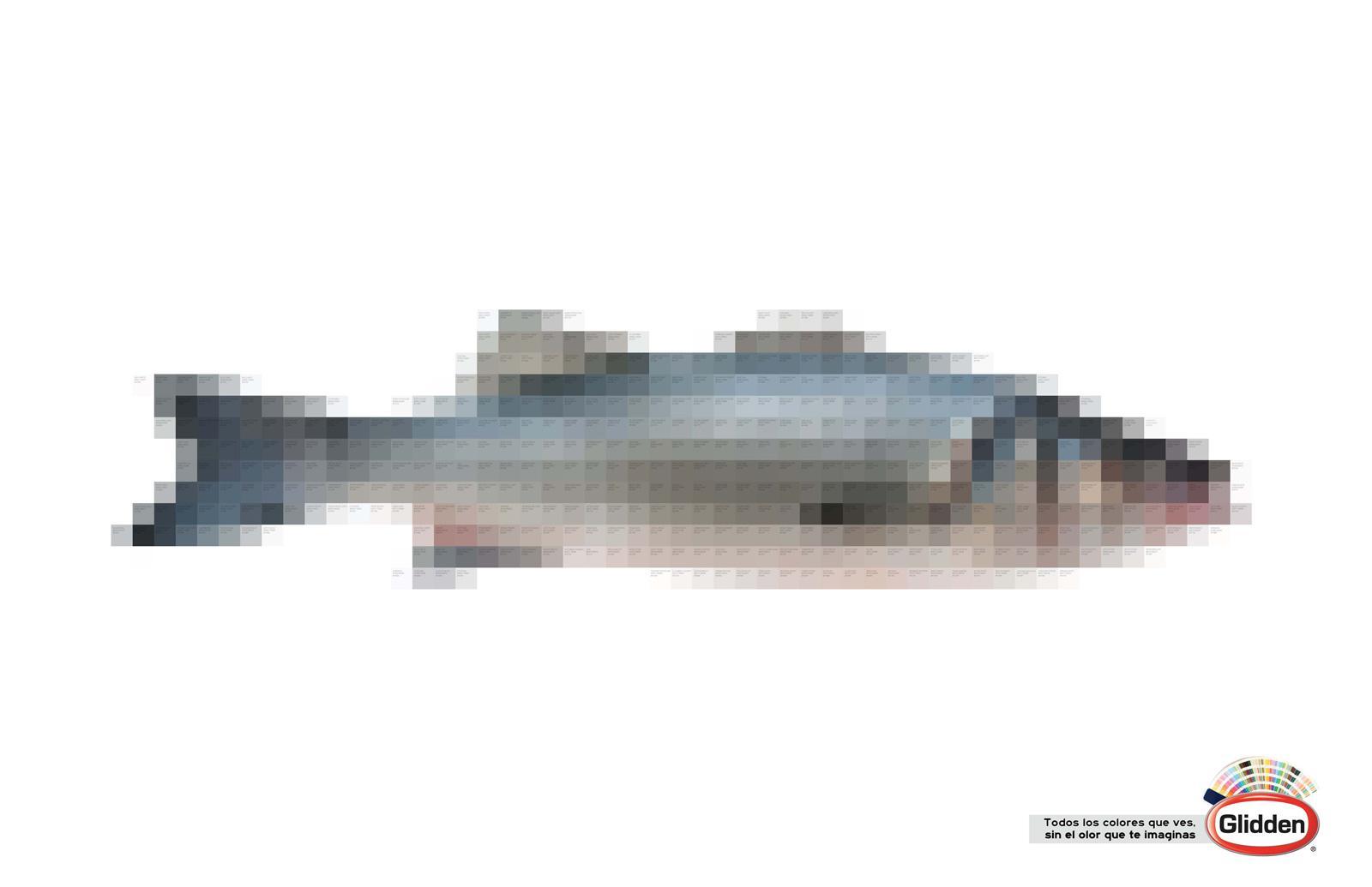 Glidden Print Ad -  Fish