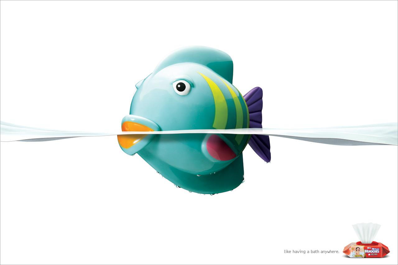 Huggies Print Ad -  Fish