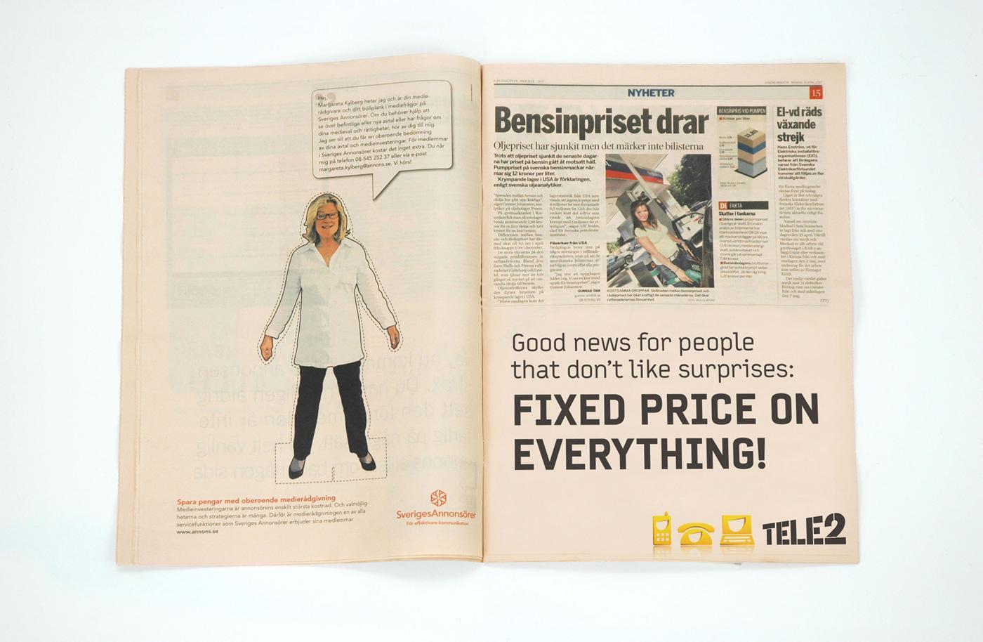 Tele2 Print Ad -  Fixed price, 1