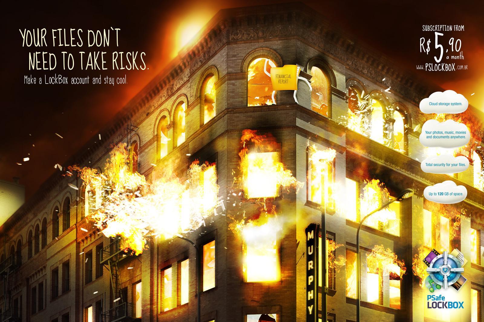 Psafe LockBox Print Ad -  Flame