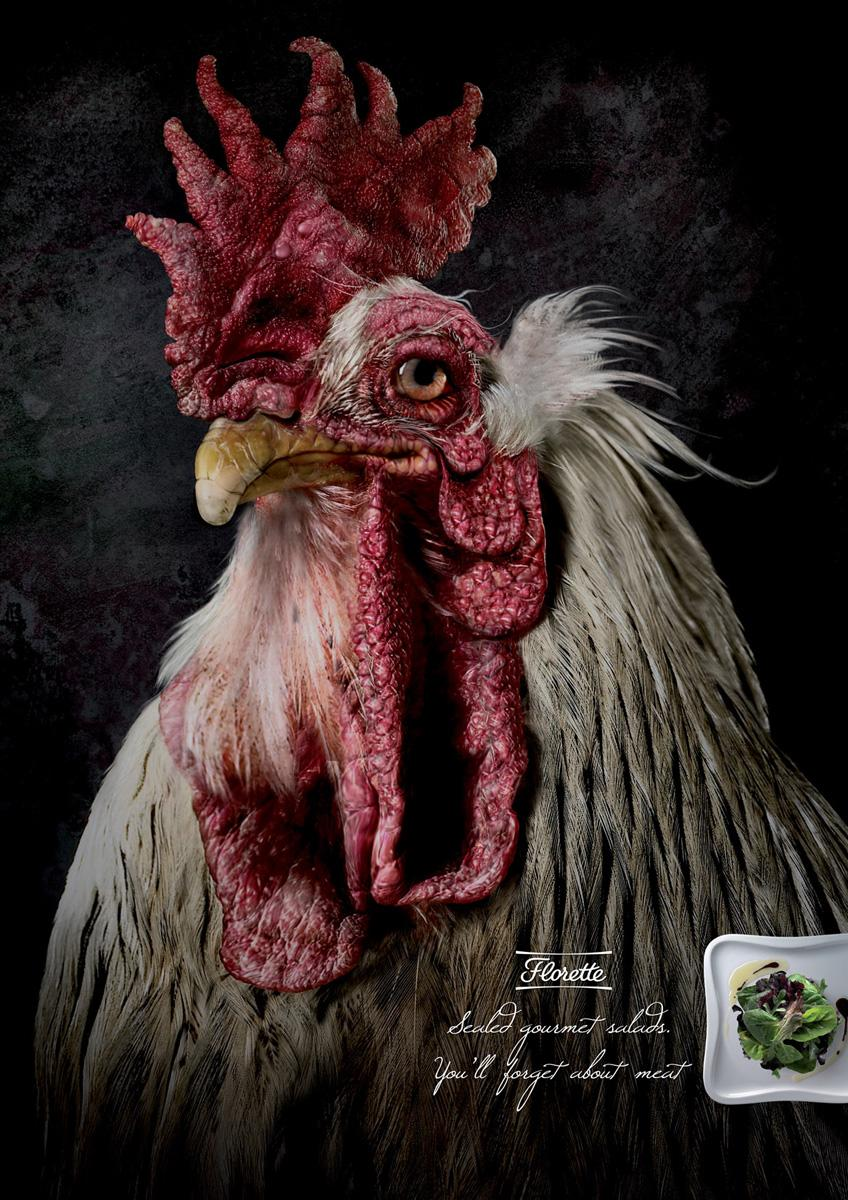 Florette Print Ad -  Rooster