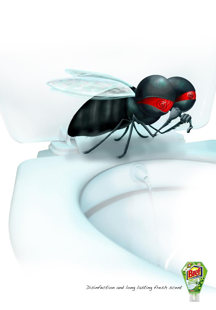 Bref Print Ad -  Fly, 3