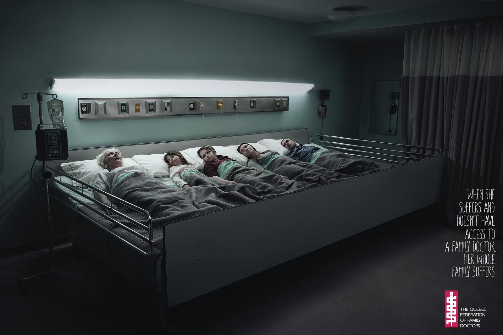 The Quebec Federation of Family Doctors Print Ad -  Hospital